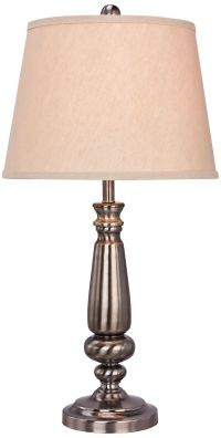Louisburg Brushed Black Nickel Metal Table Lamp - #1D850 ...