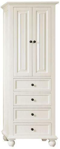 Avanity Thompson French White 4-Drawer Tall Linen Cabinet ...