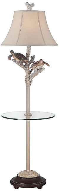 Turtle Antique Night Light Floor Lamp with Glass Tray ...