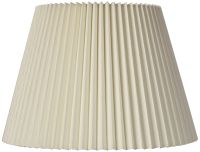 Ivory Linen Knife Pleat Lamp Shade 9X14.5X10 (Spider) | eBay