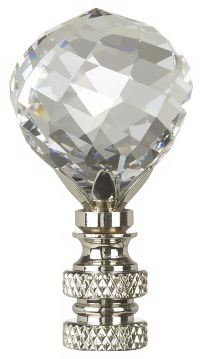 Swarovski Faceted Crystal Ball Lamp Shade Finial
