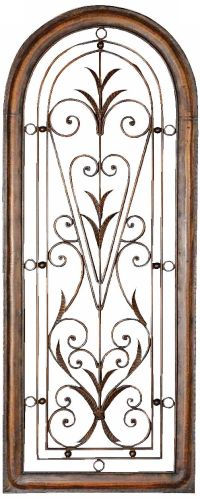 """Uttermost Petite Cristy 50"""" High Arched Metal Wall Art ..."""