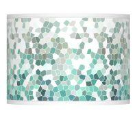 Aqua Mosaic Giclee Lamp Shade 13.5x13.5x10 (Spider ...