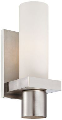 """Pillar Collection 11 1/2"""" High Brushed Nickel Wall Sconce ..."""