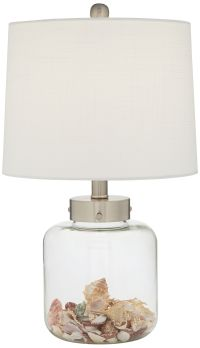 Glass Canister Small Fillable Accent Lamp - #3D618 | Lamps ...