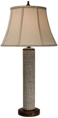Natural Light Houndstooth Woven Abaca Table Lamp - #3F942 ...
