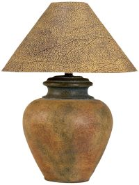Handcrafted Southwest Terra Cotta Table Lamp - #3N807 ...