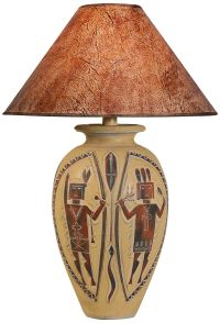 Indian Dance Handcrafted Desert Red Southwest Table Lamp ...