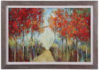 "Uttermost Nature's Walk 42"" Wide Abstract Framed Wall Art ..."
