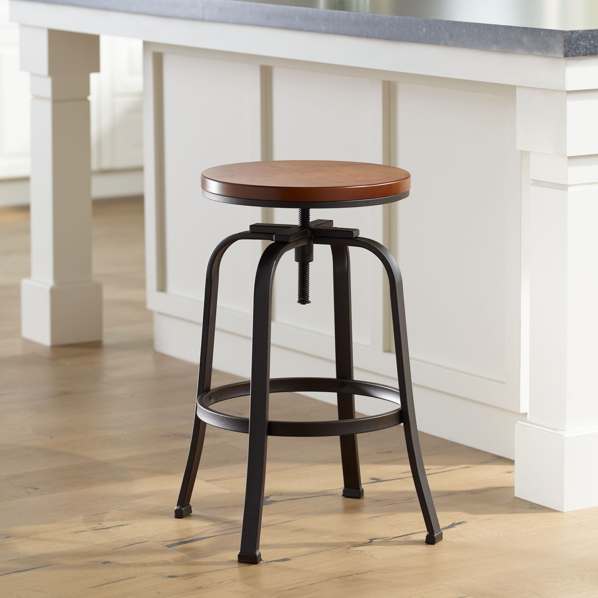 Bar Stool Height Details About Radin Hammered Bronze Adjustable Height Swivel Bar Stool