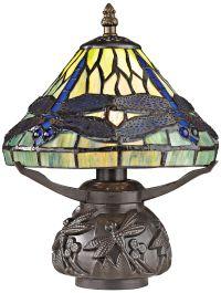 Frado Mini Tiffany Style Dragonfly Table Lamp