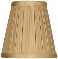 Off-White Box Pleat Chandelier Silk Shade 3x5x5 (Clip-On ...