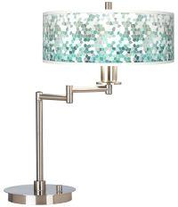 Aqua Mosaic Giclee CFL Swing Arm Desk Lamp - #61495-9D527 ...