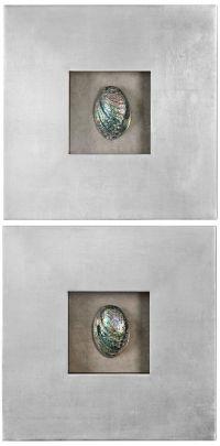 "Uttermost Abalone Shells 20"" Square Wall Art Set of 2 ..."