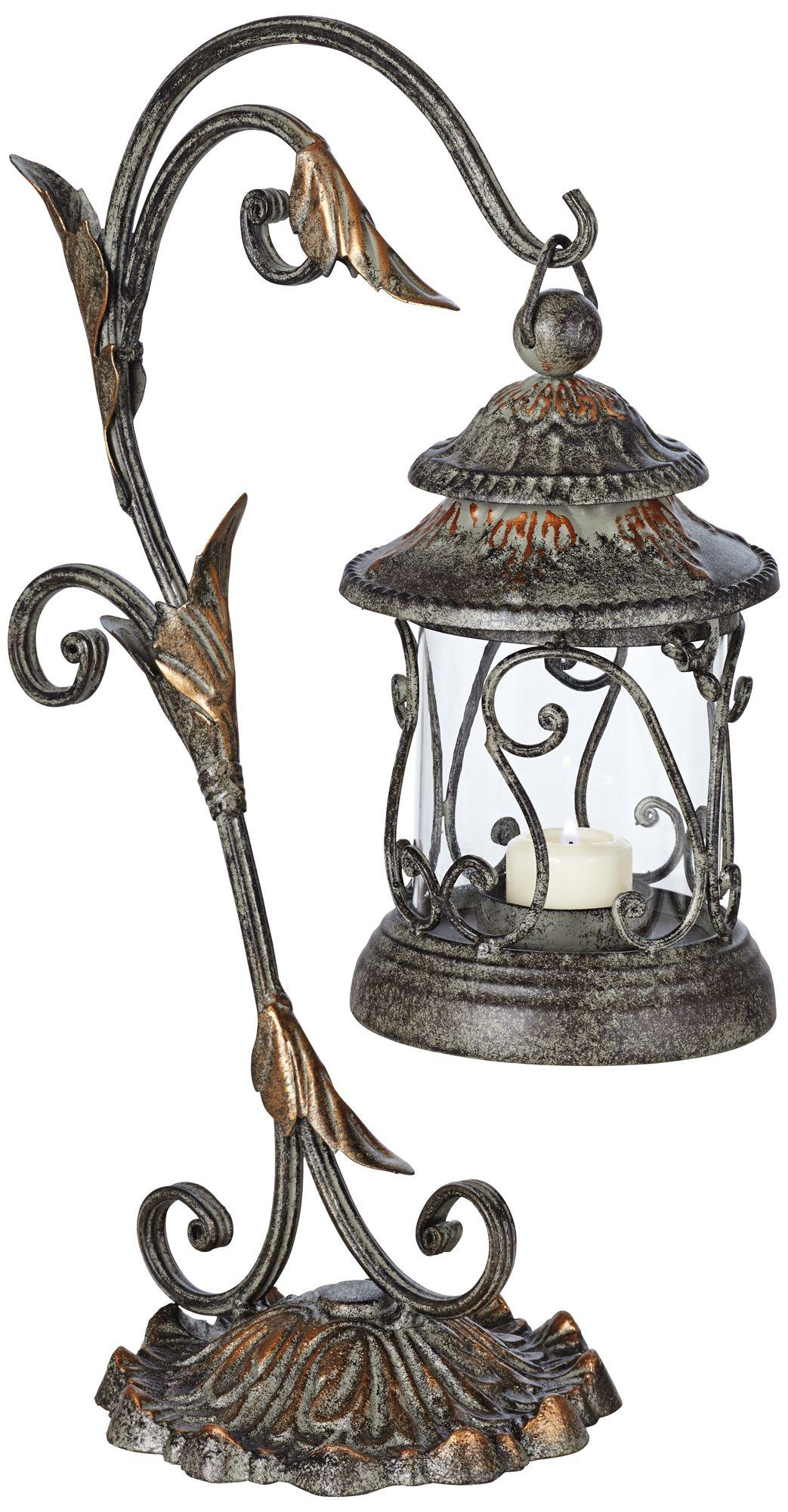 Leaf And Vine Scroll Pillar Candle Holder Lantern 82290