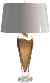 Golden Bubble Art Glass Table Lamp - #8G521 | Lamps Plus