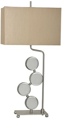 Crestview Collection Orion Brushed Nickel Metal Table Lamp ...