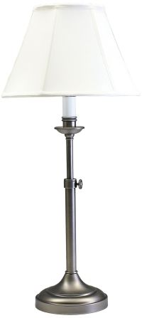 House of Troy Club Adjustable Antique Silver Table Lamp ...