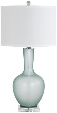Makea Frosted Green Glass Vase Table Lamp - #9M136   Lamps ...