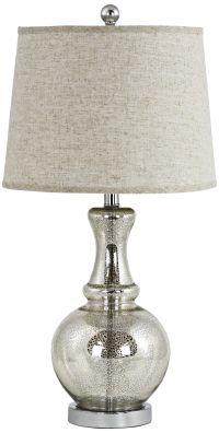 Mercury Glass Triple Gourd Table Lamp - #U5622 | Lamps Plus