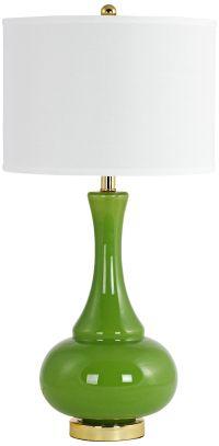 Adaliz Avocado Green Glass Vase Table Lamp - #9M290 ...
