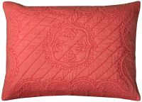 Moroccan Fling Coral Matelasse Quilted Pillow Standard ...