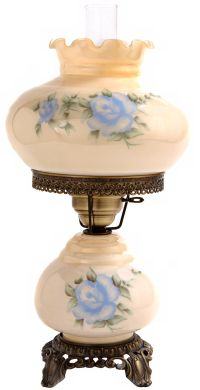 "Small Blue Rose 20"" High Night Light Hurricane Table Lamp ..."