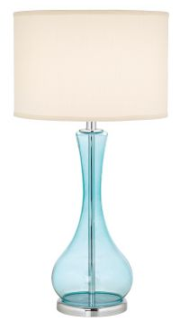 Blue Martini Glass Table Lamp - #H3008 | Lamps Plus