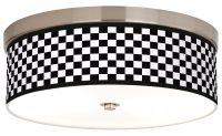 Checkered Black Giclee Energy Efficient Ceiling Light - # ...