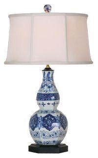 Purple and White Candlestick Base Table Lamp - #U7898 ...