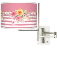 Tempo Country Rose Plug-in Swing Arm Wall Lamp - #K1148 ...
