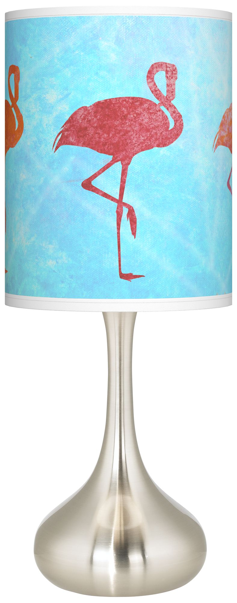 Flamingo Shade Giclee Droplet Table Lamp