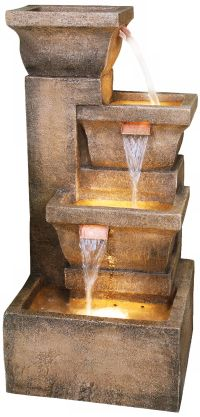 "Ashboro Lighted Indoor-Outdoor 33"" High Water Fountain - # ..."