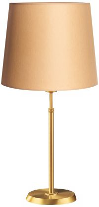 Holtkoetter Brushed Brass Lamp with Kupfer Shade
