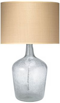 Jamie Young Medium Clear Glass Plum Jar Table Lamp - # ...
