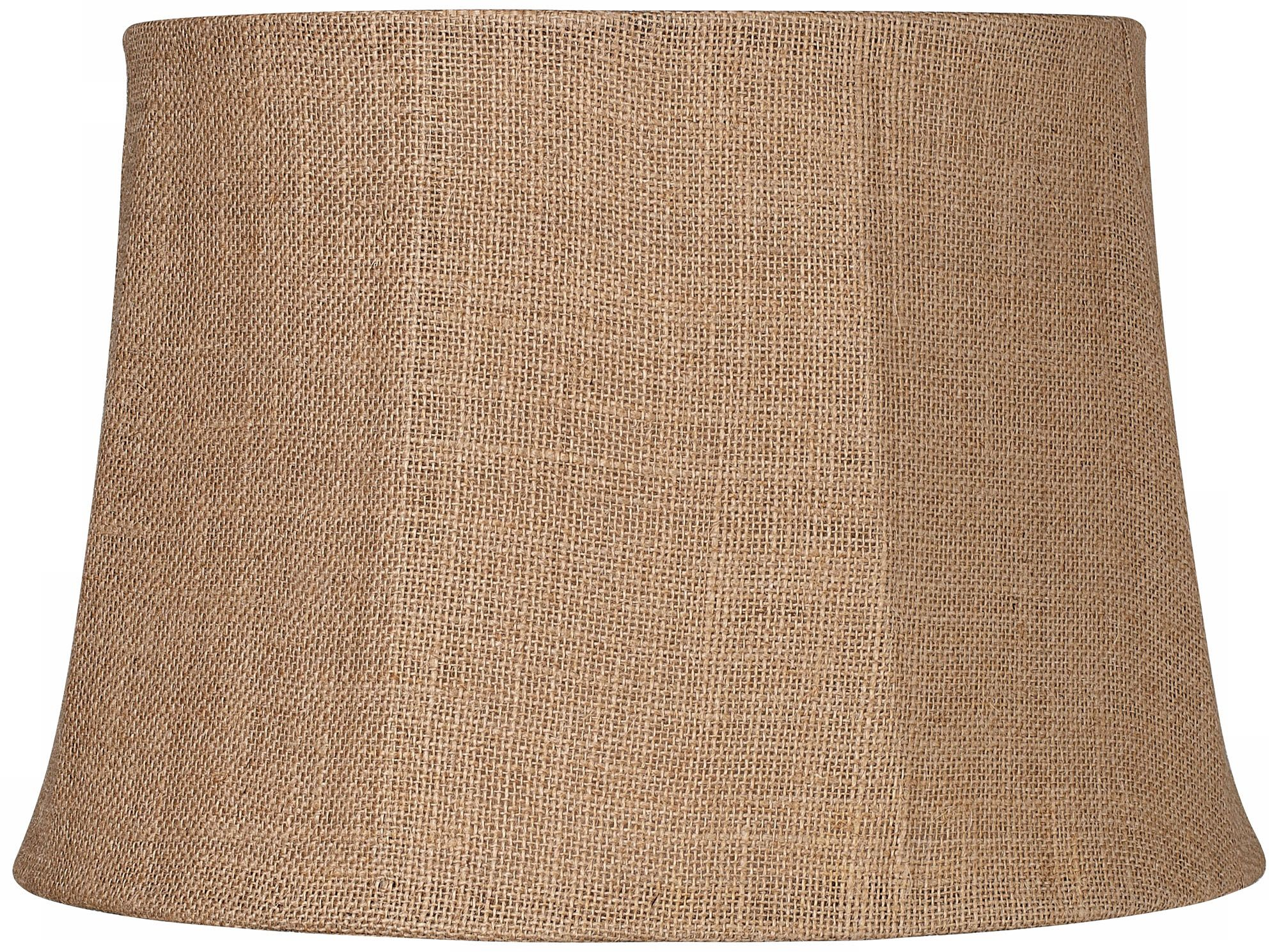 Natural Burlap Large Drum Lamp Shade 13x16x11 (Spider)