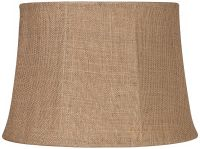 Natural Burlap Large Drum Lamp Shade 13x16x11 (Spider) - # ...