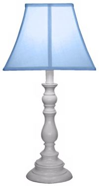 Light Blue with White Candlestick Base Table Lamp - #U7905 ...
