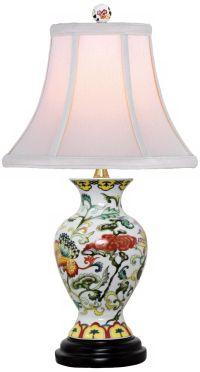 Scrolled Floral Urn Porcelain Table Lamp - #V2509 | Lamps Plus