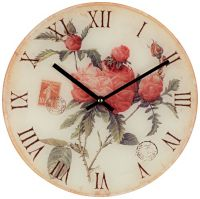 """Flowers 12"""" Wide Decorative Wall Clock - #X3596 