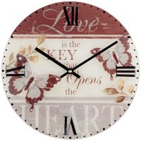 """Butterfly 12"""" Wide Decorative Wall Clock - #X3597 