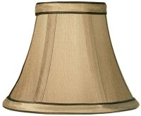 Springcrest Tan and Brown Lamp Shade 3x6x5 (Clip-On) - # ...