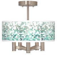 Aqua Mosaic Ava 5-Light Nickel Ceiling Light - #Y0032 ...