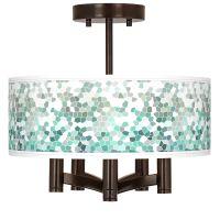 Aqua Mosaic Ava 5-Light Bronze Ceiling Light - #Y0035 ...