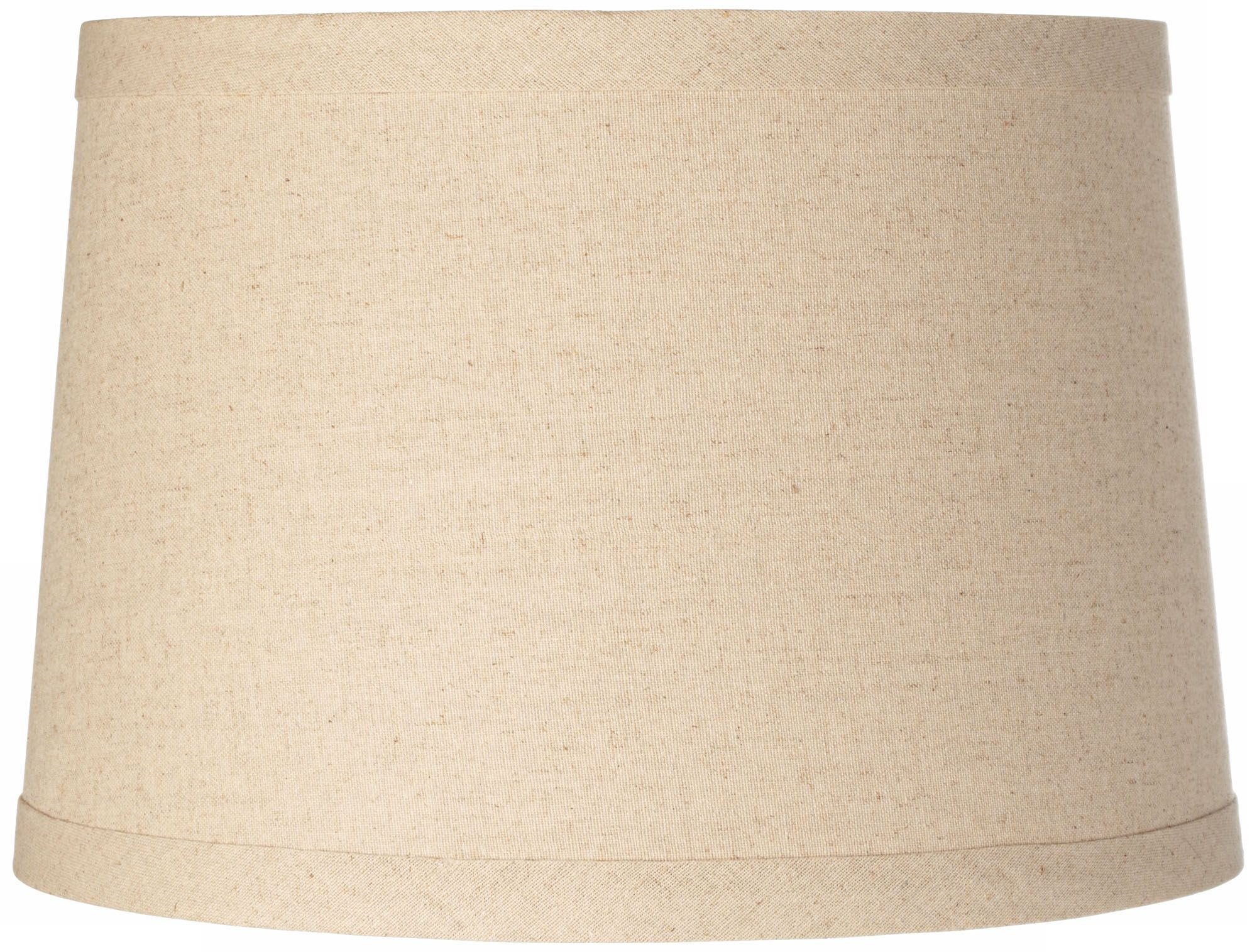 Burlap Drum Lamp Shade 14x16x11 (Spider)