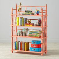 Jenny Lind Coral Bookcase | The Land of Nod