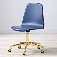 Pink/Gold Class Act Desk Chair | The Land of Nod