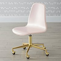 Class Act Pink & Gold Desk Chair | The Land of Nod