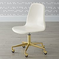 Class Act White & Gold Desk Chair | The Land of Nod