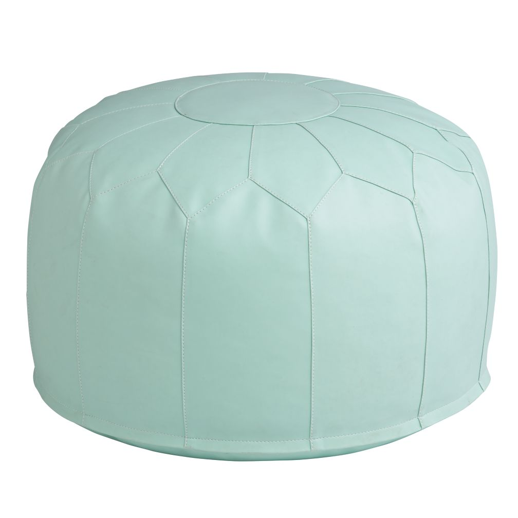 Pouf Mint Faux Leather Pouf Mint Shopswell